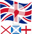 Un United Kingdom - All Flags in Union Jack vector image