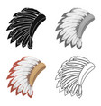 war bonnet icon in cartoon style isolated on white vector image