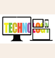colourful technology vector image