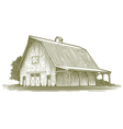 Woodcut Barn Icon vector image