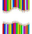wooden pencils vector image vector image