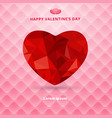 3d origami heart low polygon design shadow on vector image
