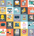 Abstract collection of colorful flat business and vector image vector image