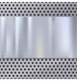 Metal texture plate vector image