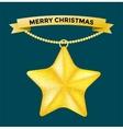 Vintage Christmas 3d decoration star toys vector image