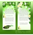 Spa card design template with leaves vector image