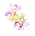 abstract summer decorationwers vector image