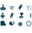 Set of Night club icons vector image