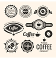 Set of monochrome coffee labels and badges Retro vector image