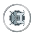 Bank vault icon in cartoon style isolated on white vector image