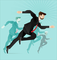 Business people competition vector image