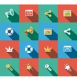 Internet and Web Flat Icons Set vector image