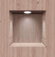 Wooden niche for presentation vector image