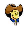 Yellow Teeth Cowboy vector image