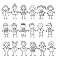 background with the image of funny kids vector image