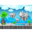 Grey Land Game Design vector image