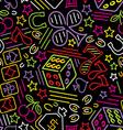 casino bg neon vs vector image vector image