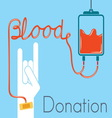 blood donation 2 vector image vector image