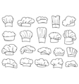 Chefs toques caps and hats vector image vector image