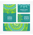 Business card Vintage decorative elements Hand vector image vector image