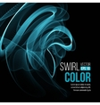Blue light wave swirl background vector image