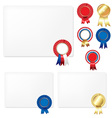 Rosette Certificate vector image vector image