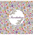 colorful floral invitation card vector image