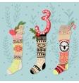 Cute Colorful Christmas Advent Calendar vector image