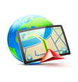 global positioning system vector image