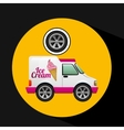 icecream truck and wheel icon design vector image