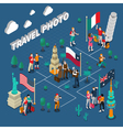 Journey People Isometric Template vector image