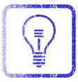 Lamp bulb framed textured icon vector image
