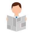 newspaper reader isolated icon design vector image