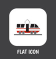 of automobile symbol on tram vector image