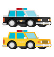 police car set flat vector image