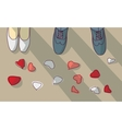 Wedding couple marriage objects vector image