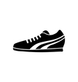 Running Shoe Icon on White Background vector image