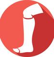 Broken Leg Icon vector image vector image