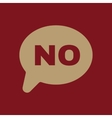The NO speech bubble icon Social network and web vector image