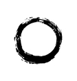 Grunge background circle black vector image vector image