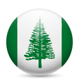 Round glossy icon of Norfolk Island vector image vector image