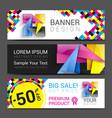 CMYK Banners logo element modern design color vector image