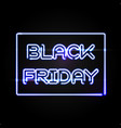 black friday light frame advertising design vector image
