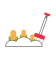 corn cultivation isolated icon vector image