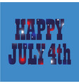 happy july 4th fireworks pattern vector image