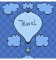 Hot air balloon design icon in the sky Flat vector image