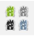 realistic design element house vector image
