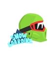 Snowboarding Helmet With Logo vector image