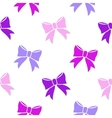 Bows on white background vector image