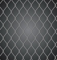 Metal fence on dark background vector image vector image
